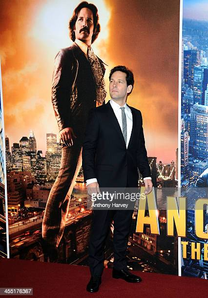 Paul Rudd attends the UK premiere of Anchorman 2 The Legend Continues at Vue West End on December 11 2013 in London England