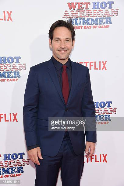 Paul Rudd attends the 'Wet Hot American Summer First Day of Camp' Series Premiere at SVA Theater on July 22 2015 in New York City