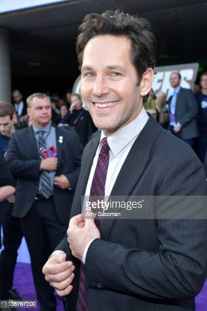 Paul Rudd attends the world premiere of Walt Disney Studios Motion Pictures 'Avengers Endgame' at the Los Angeles Convention Center on April 22 2019...