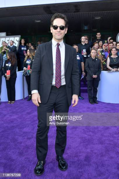 Paul Rudd attends the world premiere of Walt Disney Studios Motion Pictures Avengers Endgame at the Los Angeles Convention Center on April 22 2019 in...