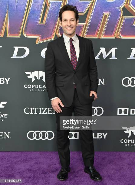 Paul Rudd attends the World Premiere of Walt Disney Studios Motion Pictures 'Avengers Endgame' at Los Angeles Convention Center on April 22 2019 in...