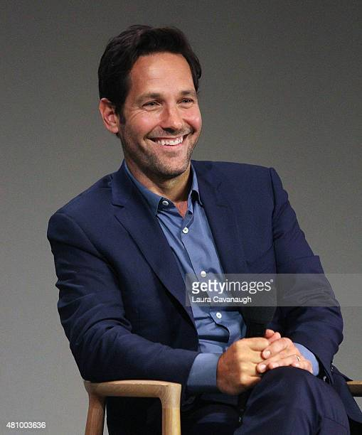 Paul Rudd discussess the film 'AntMan' during Apple Store Soho Meet The Filmmaker on July 16 2015 in New York City