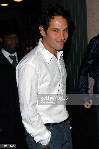 Paul Rudd during Celebrity Sightings at The Ivy Restaurant in London August 14 2005 at The Ivy in London Great Britain