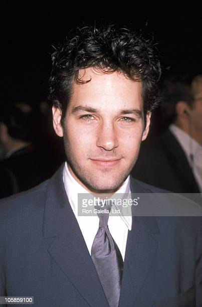 Paul Rudd during The Cider House Rules Beverly Hills Premiere at 1999 Tobey Maguire File Photo in Beverly Hills California United States