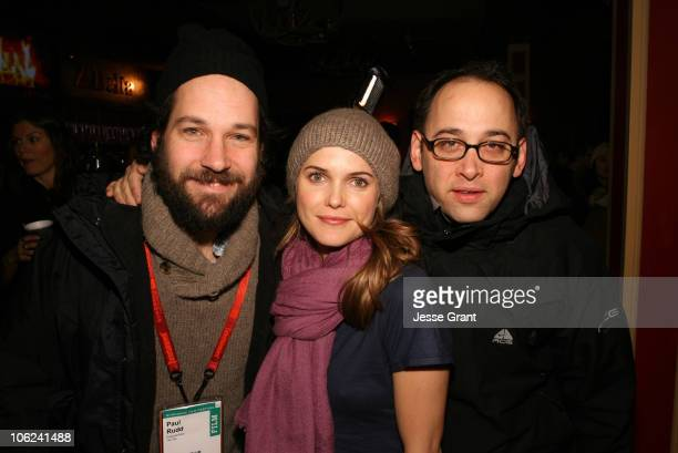 Paul Rudd Keri Russell and David Wain during 2007 Park City Adrienne Shelly Foundation Announces Advisory Board at Delta Sky Lodge in Park City Utah...