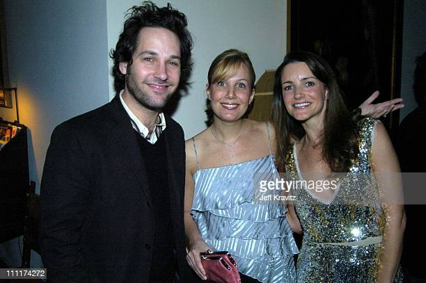 Paul Rudd Kristin Davis and Guest during HBO Films Pre Golden Globes Party Inside Coverage at Chateau Marmont in Los Angeles California United States