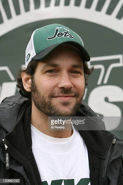 Paul Rudd on the sidelines in action during the Chicago Bears' 100 victory over the New York Jets at the Meadowlands East Rutherford New Jersey...