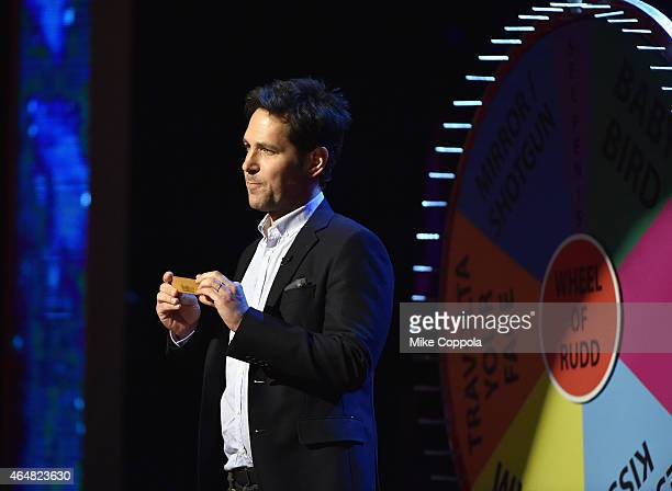 Paul Rudd performs onstage at Comedy Central Night Of Too Many Stars at Beacon Theatre on February 28 2015 in New York City