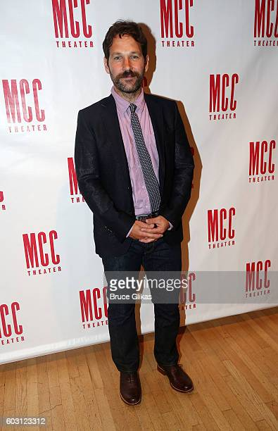 Paul Rudd poses at the After Party for The MCC Theatre Benefit Reading of Neil LaBute's 'Reasons To Be Pretty Happy' at Ramsacle on September 11 2016...