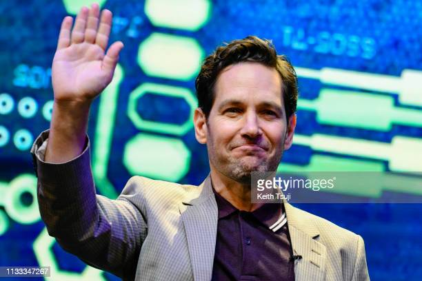 Paul Rudd Starring AntMan attends AntMan and The Wasp Nano Battle Launch ceremony on March 28 2019 in Hong Kong Hong Kong The new 'AntMan and The...