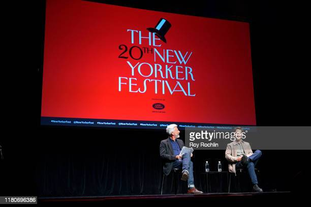 Paul Rudd talks with Michael Specter at the 2019 New Yorker Festival on October 12, 2019 in New York City.