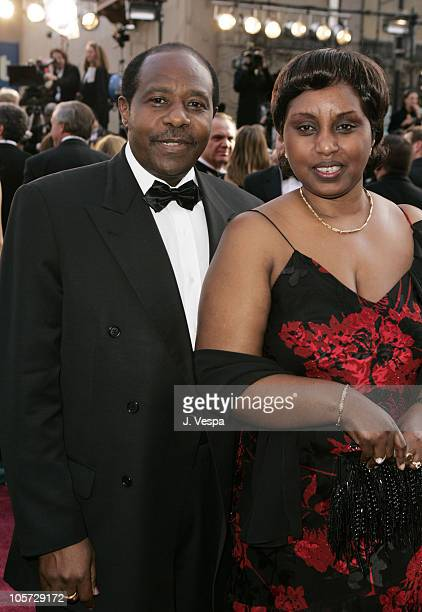 Paul Rusesabagina and wife Tatiana during The 77th Annual Academy Awards Executive Arrivals at Kodak Theatre in Hollywood California United States