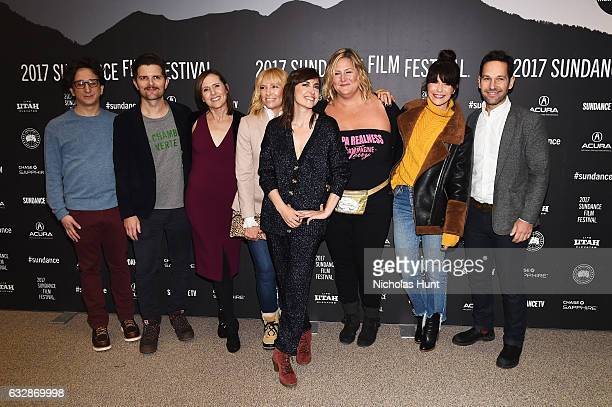 "Paul Rust, Adam Scott, Molly Shannon, Toni Collette, Alethea Jones, Bridget Everett, Katie Aselton and Paul Rudd attend ""Fun Mom Dinner"" Premiere..."