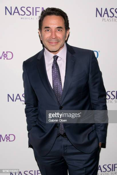 Paul S Nassif arrives for Dr Paul Nassif's unveiling of his new medical spa with grand opening and ribboncutting ceremony at Nassif MD Medical Spa on...