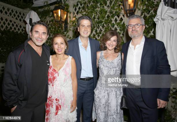 Paul S Nassif MD Karine Ohana Ariel Ohana Lori Bush and Laurent Ohana attend the Ohana Co LA Summer Party at the Peninsula Hotel on August 19 2019 in...