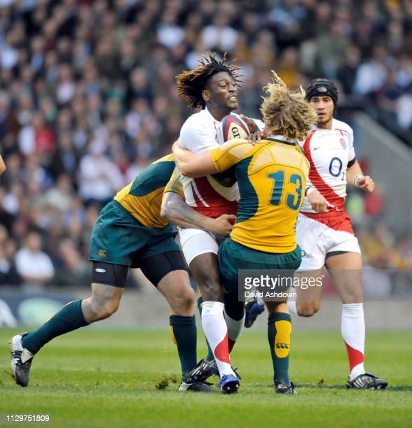 Paul Sackey England v Australia Rugby Autumn International at Twickenham Stadium, London.