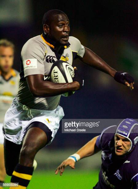 Paul Sackey of Wasps in action during the Guinness Premiership match between Sale Sharks and London Wasps at Edgeley Park on October 14, 2005 in...