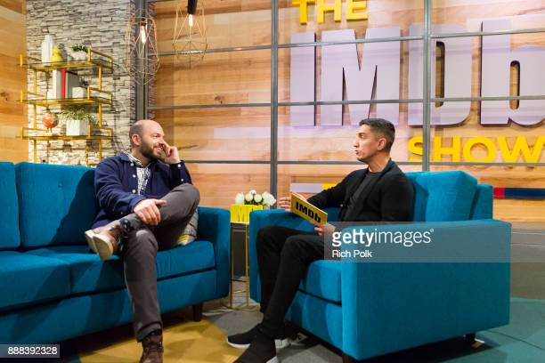 Paul Scheer and Cohost Tim Kash on set at The IMDb Show on December 6th The show airs December 8 2017 December 6 2017 in Studio City California