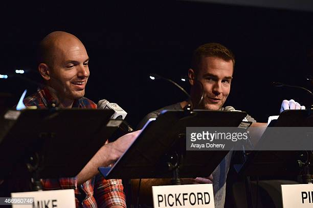 Paul Scheer and James Van Der Beek attend the Film Independent at LACMA presents Live Read of 'Dazed And Confused' at Bing Theatre At LACMA on March...