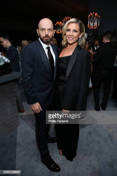 Paul Scheer and June Diane Raphael attend the 2018 Netflix Emmy AfterParty at NeueHouse Hollywood on September 17 2018 in Los Angeles California