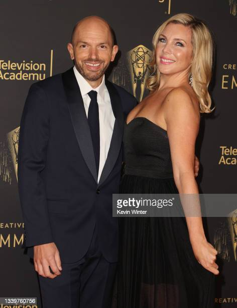 Paul Scheer and June Diane Raphael attend the 2021 Creative Arts Emmys at Microsoft Theater on September 11, 2021 in Los Angeles, California.