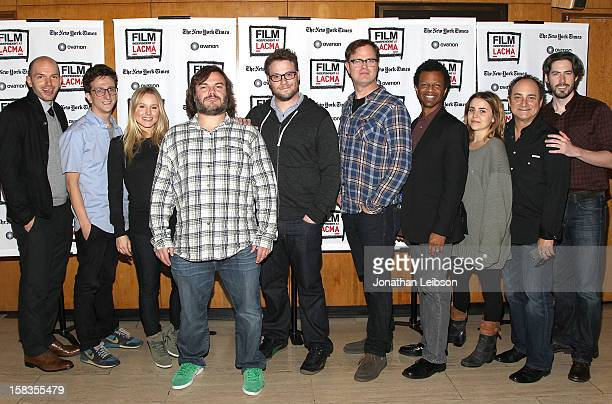 Paul Scheer Paul Rust Kristen Bell Jack Black Seth Rogen Rainn Wilson Phil LaMarr Mae Whitman Kevin Pollak and Jason Reitman attend the Film...