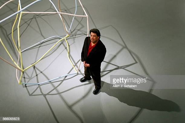 Paul Schimmel, MOCA Chief Curator of Installation view of Collection: MOCA's First Thirty Years at The Geffen Contemporary at MOCA, stands in his...