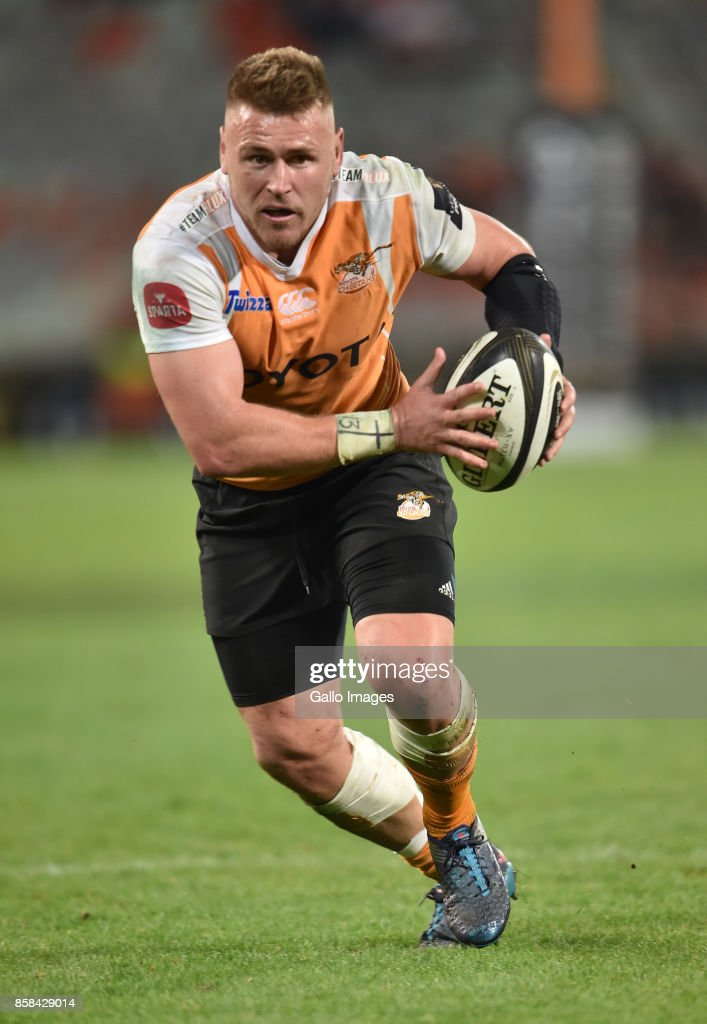 Paul Schoeman of the Toyota Cheetahs during the Guinness Pro14 match between Toyota Cheetahs and Glasgow Warriors at Toyota Stadium on October 06, 2017 in Bloemfontein, South Africa.