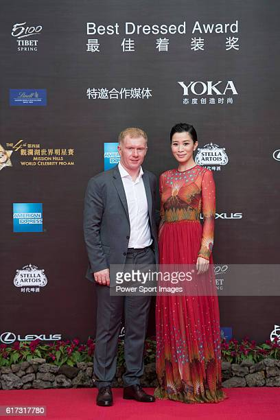 Paul Scholes and Charmaine Sheh during the Red Carpet event at the World Celebrity ProAm 2016 Mission Hills China Golf Tournament on 20 October 2016...