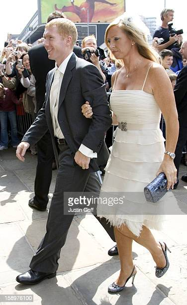 Paul Scholes Attends The Wedding Of Gary Neville Emma Hadfield At The Manchester Cathedral In ManchesterPictture Uk Press