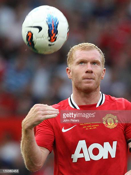 ac8bd2bafcc Paul Scholes of Manchester United in action during Paul Scholes  Testimonial  match between Manchester United