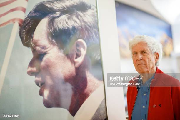 Paul Schrade stands for a portrait in the library named for him at Robert F Kennedy Community Schools on Wednesday May 16 2018 in Los Angeles CA...