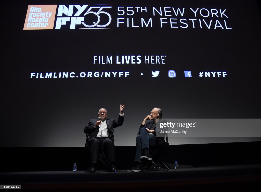 Paul Schrader and Kent Jones attend 55th New York Film Festival - 'Sneak Preview' at Alice Tully Hall on October 6, 2017 in New York City.