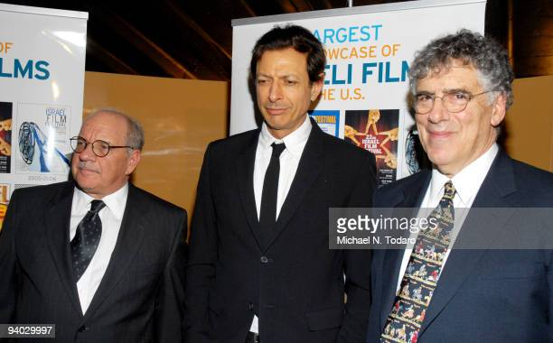 Paul Schrader Jeff Goldblum and Elliott Gould attend the opening night of the 24th annual Israel Film Festival at the SVA Theater on December 5 2009...