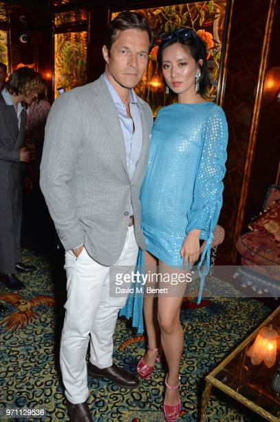 Paul Sculfor and Betty Bachz attend the GQ Style and Browns LFWM Party at Annabels on June 10 2018 in London England