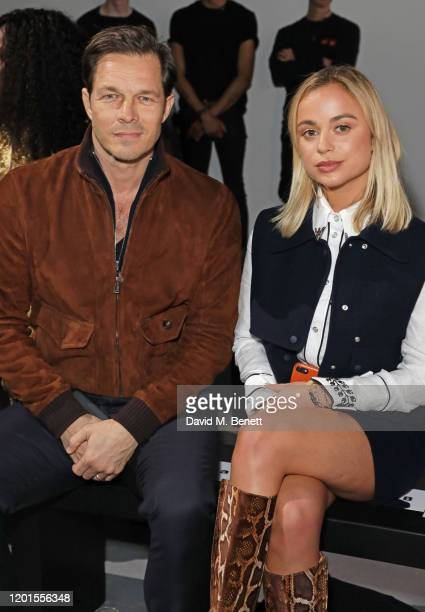 Paul Sculfor and Lady Amelia Windsor attend the International Woolmark Prize 19/20 Final during London Fashion Week February 2020 at Ambika P3 on...