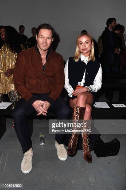Paul Sculfor and Lady Amelia Windsor attend The Woolmark Prize show during London Fashion Week February 2020 on February 17 2020 in London England