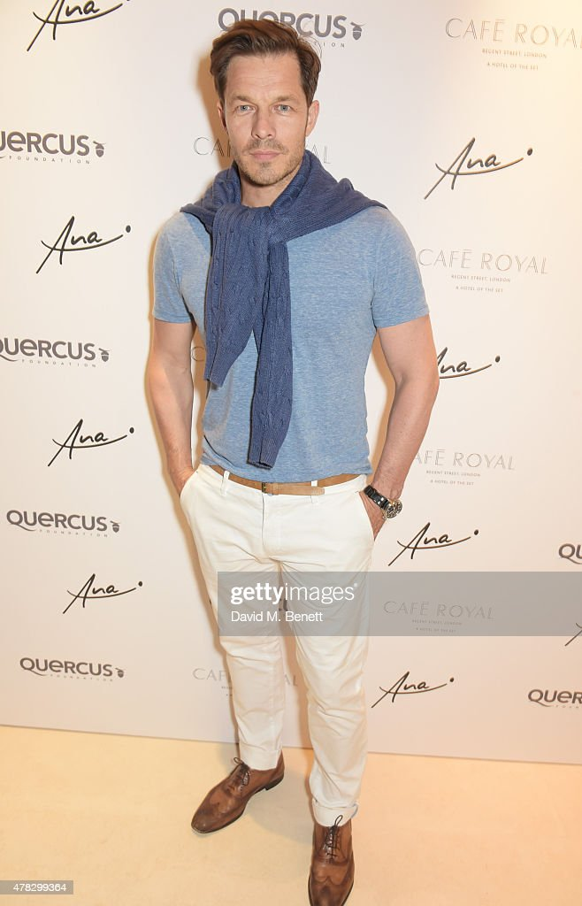 Paul Sculfor arrives at the Quercus Foundation Pre-Wimbledon Cocktails with Ana Ivanovic in the Ten Room at Hotel Cafe Royal on June 24, 2015 in London, England.