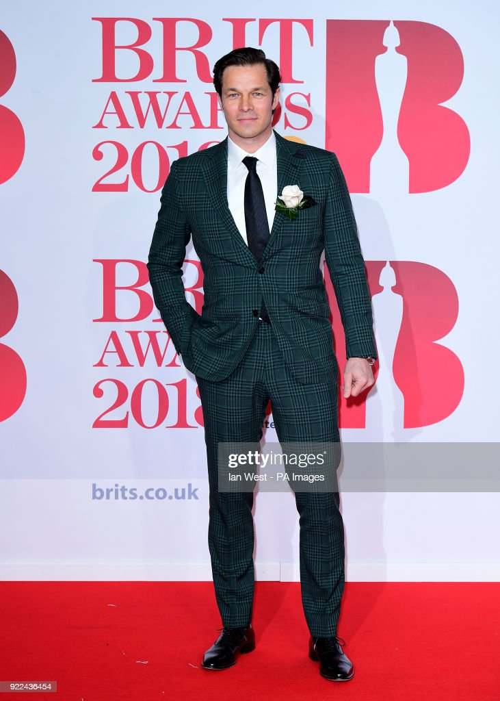 Paul Sculfor attending the Brit Awards at the O2 Arena, London