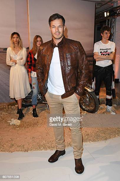 Paul Sculfor attends as Belstaff and Liv Tyler launch the Spring Summer 17 collection during London Fashion Week at Victoria House on September 18...