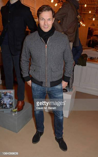 Paul Sculfor attends the Private White V.C. X The Woolmark Company exclusive party on November 21, 2018 in London, England.