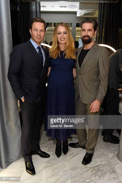 Paul Sculfor Federica Amati and Jack Guinness attend the men's grooming event for the opening of the first TOM FORD global beauty store in Covent...