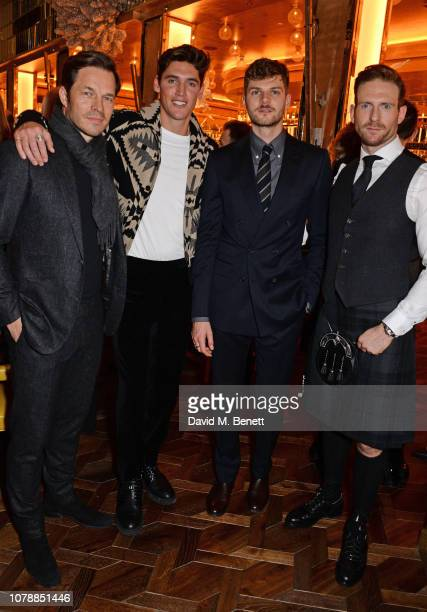 Paul Sculfor Isaac Carew Jim Chapman and Craig McGinlay attend the GQ dinner hosted by Dylan Jones and David Beckham to celebrate London Fashion Week...