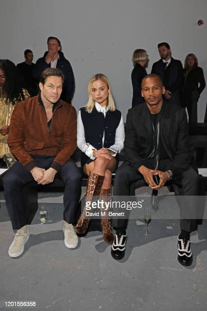 Paul Sculfor Lady Amelia Windsor and Eric Underwood attend the International Woolmark Prize 19/20 Final during London Fashion Week February 2020 at...