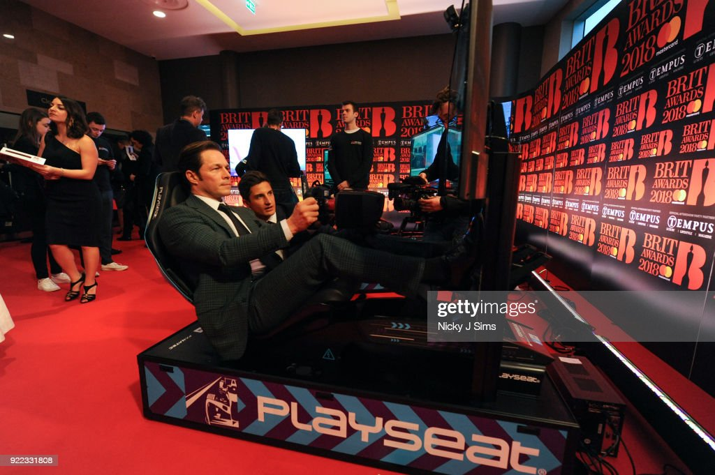 Formula E Simulators At The BRIT Awards 2018 After-Party : News Photo