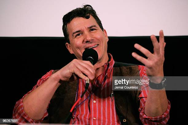 Paul Sereno attends the The Discovery Process Alred P Sloan Foundation pannel during the 2010 Sundance Film Festival at Filmmaker Lodge on January 29...