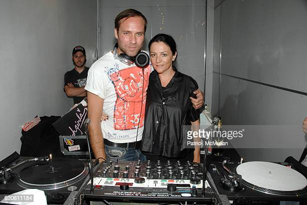 Paul Sevigny and Kelly Cutrone attend KEITH LISSNER Collection Presentation Cocktail at Ranchet Flowers on September 3 2008 in New York City