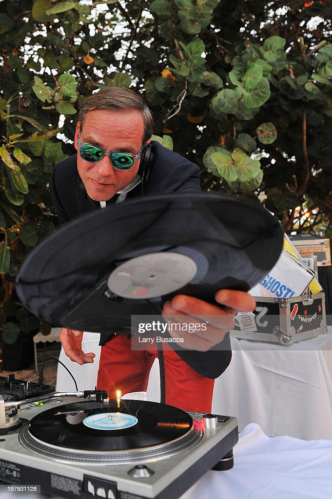 DJ Paul Sevigny spins during AD Oasis hosts Caesarstone's Happy Hour at The Raleigh on December 7, 2012 in Miami, Florida.