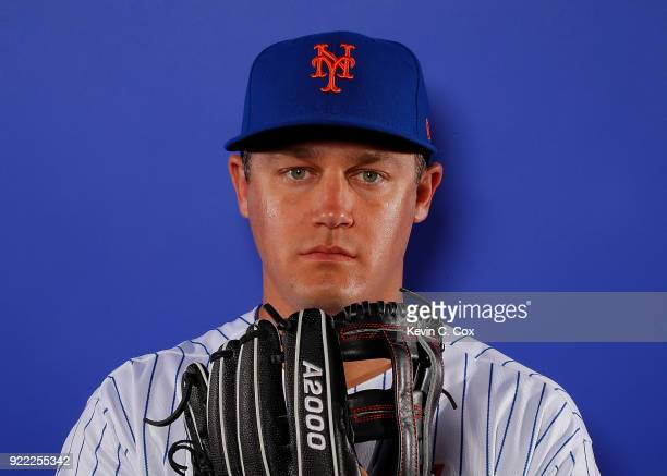 Paul Sewald of the New York Mets poses for a photo during photo days at First Data Field on February 21 2018 in Port St Lucie Florida