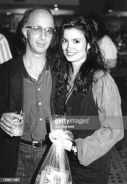 Paul Shaffer and Meredith Brooks pose for a portrait at the radio Conclave in Minneapolis Minnesota in 1989